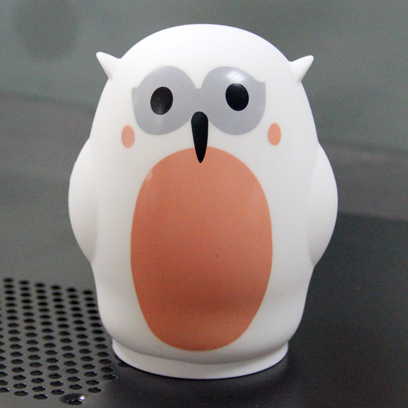 2018 New promotion gift colored cute Owl led lamps for home table