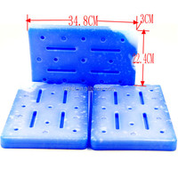 34.8*22.4*3CM 2000ML Large Reusable Medicine Food Grade Gel Ice Pack,Hard Shell Plastic Ice Pack For Cold Transport