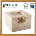 Wholesales handmade unfinished square cheap wooden shadow boxes