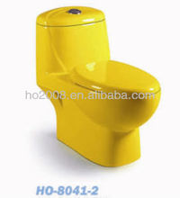 Yellow Color One piece WC Closet