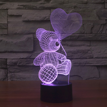 2016 new and various colors teddy bear LED light