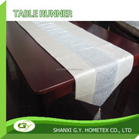 100% polyester SILVER BEADED embroidery organza table runner 33x178cm