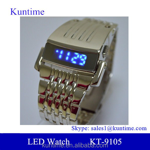 Relojes para hombre stainless steel led digital watch