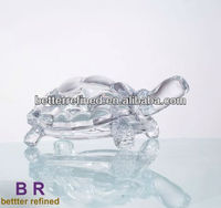 crystal tortoise as Christmas glass decoration