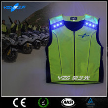 fluorescent hi vis LED luminous reflective safety high quality sport t shirt
