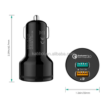 CE ROHS FCC approved 30W quick charge 3.0 2 usb battery car charger for iPhone 6 6 Plus iPad Air 2 mini 3 Samsung Galaxy S6