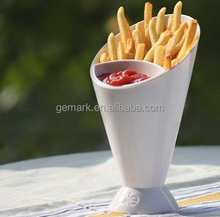 BPA free food box 2 in 1 French Fry Dipping Cone