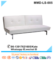 Pure White Chesterfield Leather Bed Sofa,Living Room Furniture