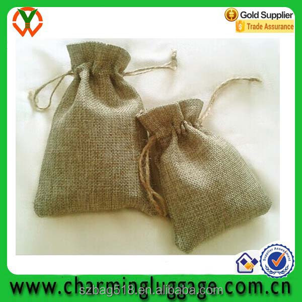 small cheap drawstring festival party promotional jute gift bag manufactureres wholesale