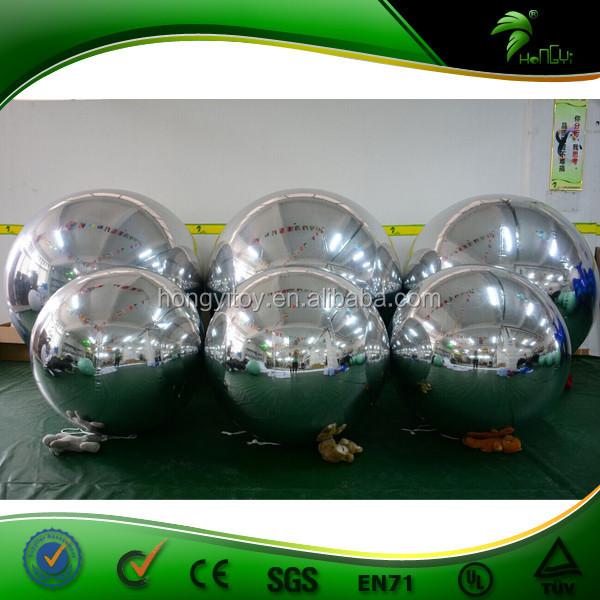 Прочный гигантские надувные зеркальный шар Серебристые Светоотражающие шар для свадьбы рекламы парад