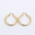 2017 new fashion Jewelry casual round gold color rose golden hoop earrings