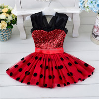 2016 red and black sleeveless japanese free prom dress for kids