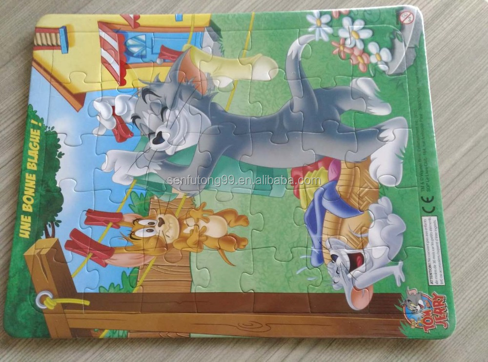 Tom and JERRY Cartoon DIY Toy Puzzle For Kids Game