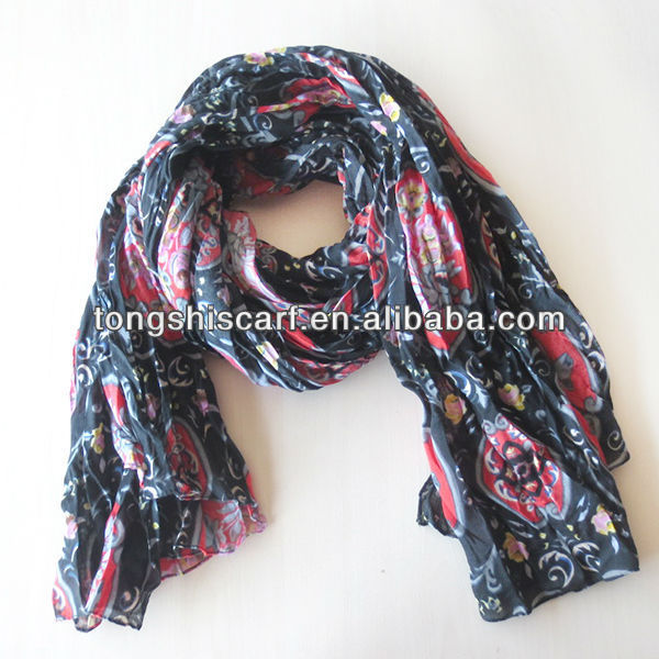 New design crinkle arab scarf women hijab