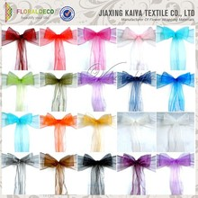 Colorful new design cheap chair sash wedding organza