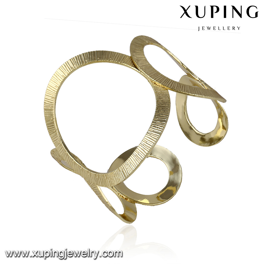 51637-wholesale fashion jewelry 14k gold indian fancy bangles