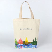 Custom top quality oem promotional recycled pencil organic cotton bag