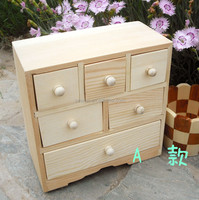 Log storage box with multiple drawer,small wooden drawer storage box Wholesale