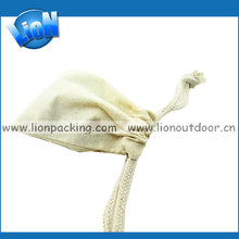 wholesale unbleached plain cotton seed bags with drawstring