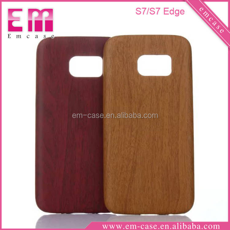 New Design Wooden Pattern PU Case For Samsung S7 Edge Pu Leather Case For Galaxy S7