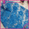 2016 Latest Embroidered Tulle Lace Fabric Royal Blue French Lace Fabric