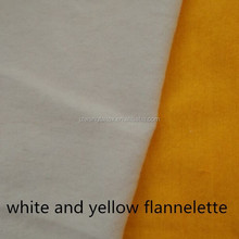 100%Cotton Reactive Printed Flannelette /Fleece Fabrics White ,dyed