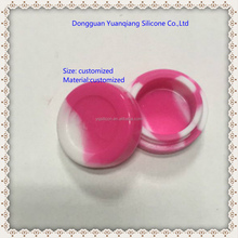 food grade round small silicone cosmetic box containers