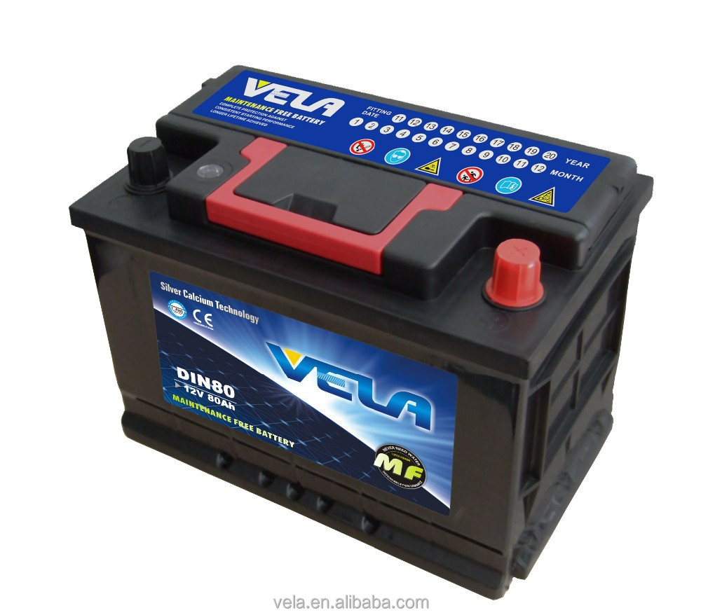 MF battery DIN80 car battery manufacturer sale in USA