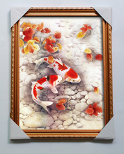 2014 new hot sale goldfish 3d picture frame for home decoration