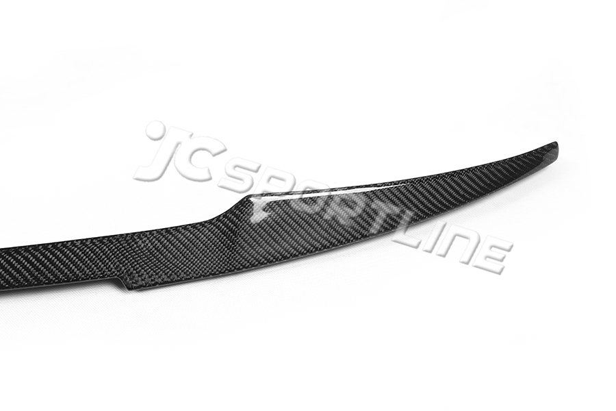 14-15 Carbon Fiber F32 428i 435i Coupe M4 Style Trunk Spoiler Lip for BMW