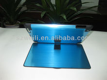 2014 prop up in the back strong quality aluminum case for ipad 2/3/4