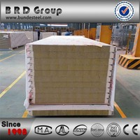 pu wall panel rockwool sandwich panels price fire rated A building material