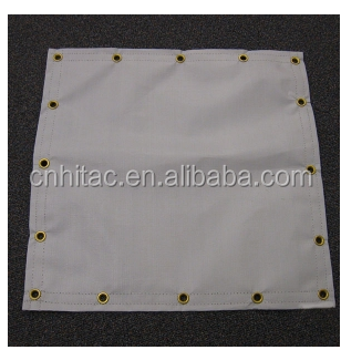 Athletic Field Base Covers , 10' X 10' 15 Mil Polyethylene Athletic Base Covers Silver/White