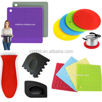 Silicone Hot Handle Pot Holder Silicone Mat Silicone Pad For Cast Iron Skillets