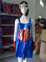 Quanzhou instyles SEXY AMERICAN DREAM CAPTAIN HERO STARS & STRIPES FANCY DRESS COSTUME