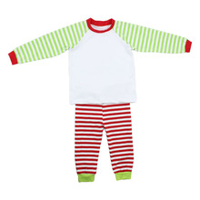 2016 baby clothes factory wholesale Christmas pajamas red or green strip sleeve clothes baby sleep wear