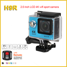 Waterproof head cam 4k 30fps wifi action camera remote control H9R