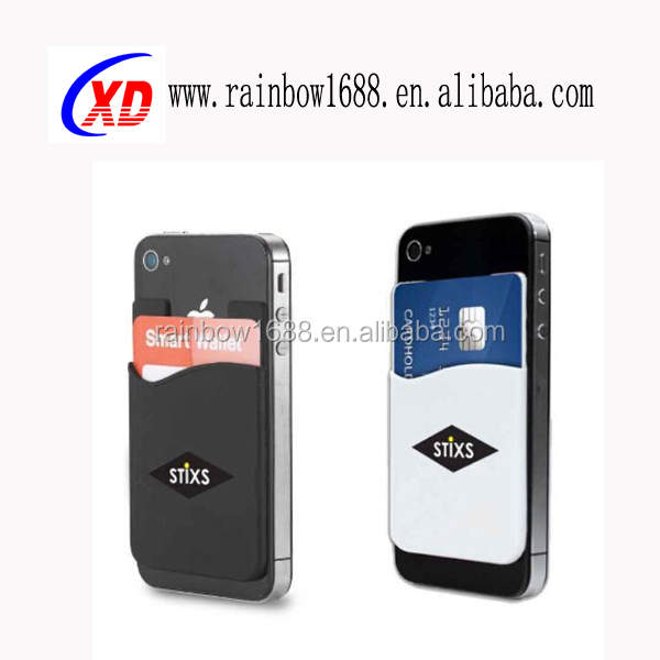 Factory Wholesale M Card Holder Smart Silicone Phone Wallet,smartphone silicone smart card wallet,flat wallet card holder