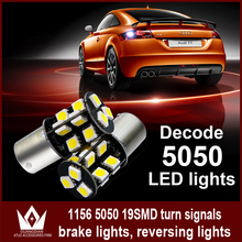 LightPoint canbus S25 1156 P21W BA15S 5050 19smd led Reverse lamp Turn Signal Brake lamp Parking light