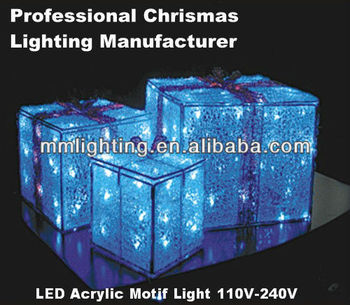 LED acrylic outdoor christmas decorations