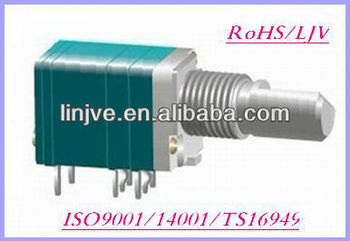 9mm rotary 10k linear dual gang parallel to PCB potentiometers