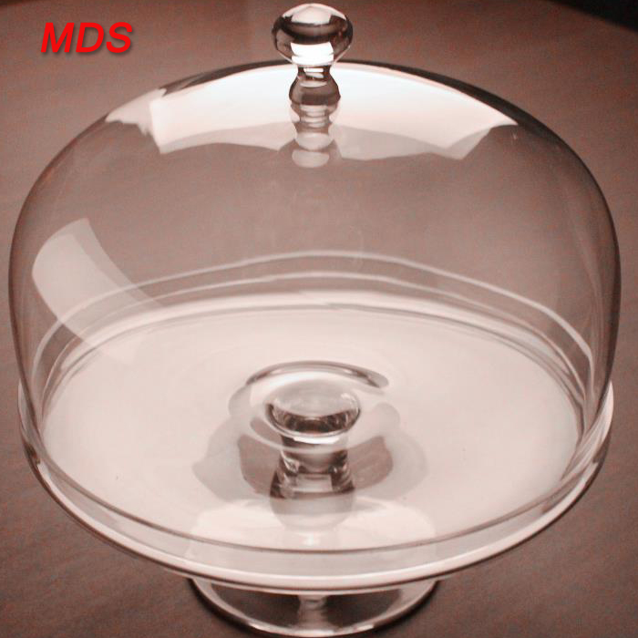 Dinnerware type clear plexiglass cake stand with dome