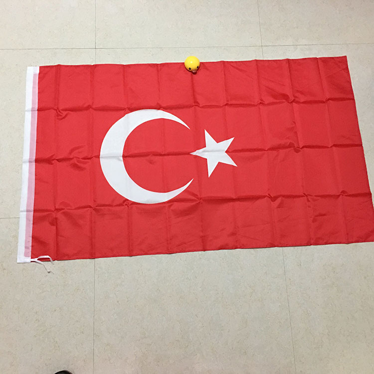 Wholesale Top Quality Polyester Printed Punch Country National Turkey Flag