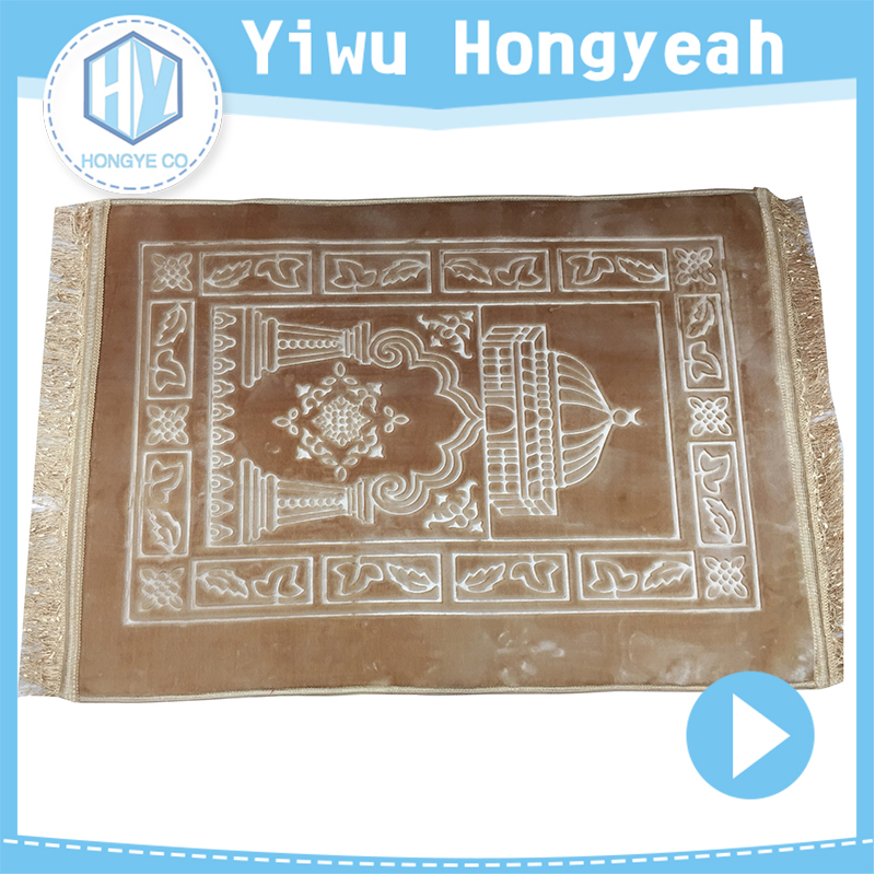 Factory sale 100% Polyester Prayer Rug for muslim Worship mat