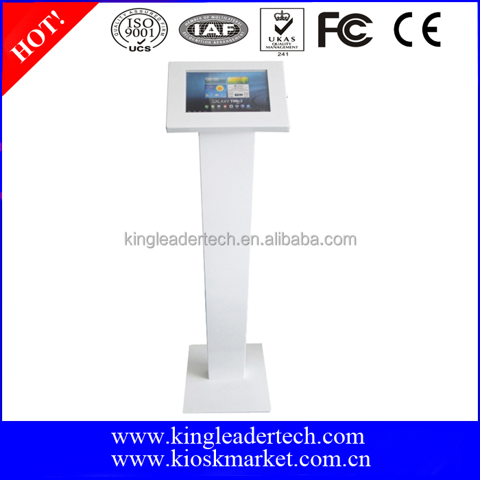 Lockable android 10.1 tablet enclosure kiosk floor stand