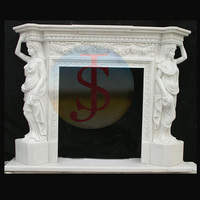 Hand Carved diy fireplace mantels