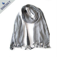 Factory direct new style spring winter scarf silk scarf bound