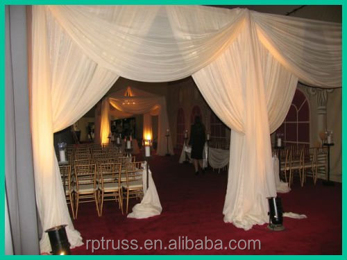 aluminum backdrop stand and chiffon drape