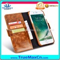 High Quality 2 in 1 Oil Wax Leather Mobile Phone Cover with Card Slot Case for iPhone 7