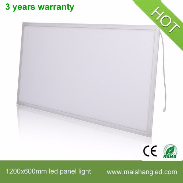 High Power SMD 72W 1200mm Aluminum+Acrylic led panel light 1200x600 with CE&RoHS